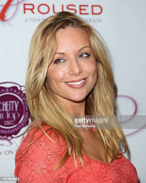Actress Kayden Kross attends the Los Angeles premiere of Aroused at the Landmark Theater on May 1 2013 in Los Angeles California