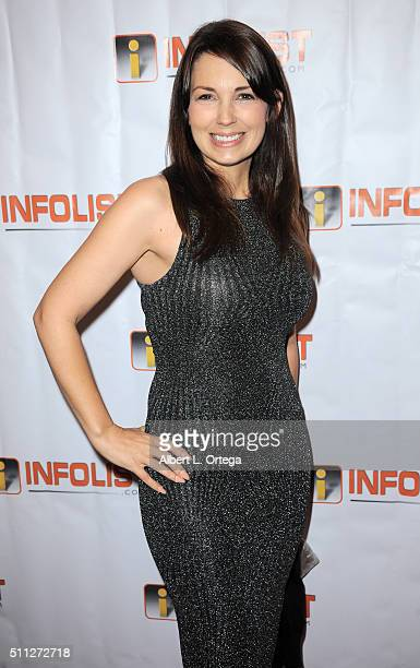 Actress Kaye Laine arrives for the InfoList PreOscar Soiree And Birthday Party for Jeff Gund held at OHM Nightclub on February 18 2016 in Hollywood...