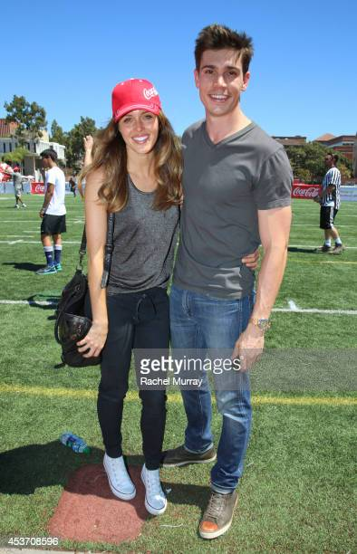 Actress Kayla Ewell and actor Tanner Novlan attend Kickball For A Home Celebrity Challenge Presented By Dave Thomas Foundation For Adoption at the...