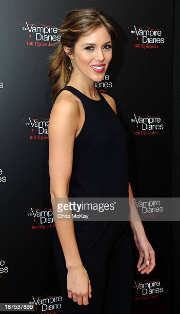 Actress Kayla Ewell attends The Vampire Diaries 100th Episode Celebration on November 9 2013 in Atlanta Georgia
