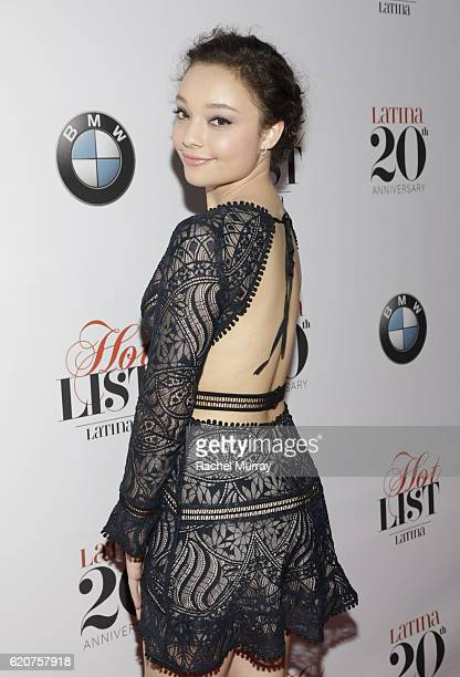 Actress Kayla Maisonet attends Latina's 20th Anniversary celebrating The Hollywood Hot List Honorees at STK on November 2 2016 in Los Angeles...
