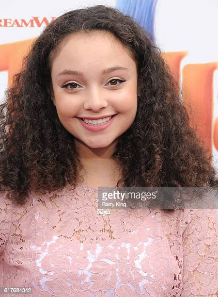 Actress Kayla Maisonet attends the premiere of 20th Century Fox's 'Trolls' at Regency Village Theatre on October 23 2016 in Westwood California