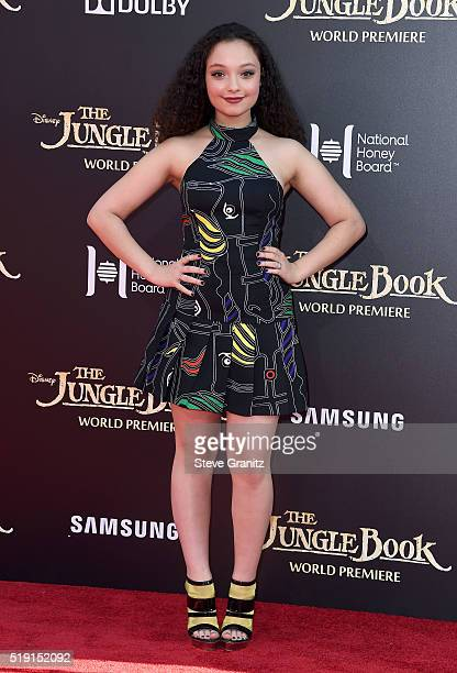 Actress Kayla Maisonet attends the premiere of Disney's The Jungle Book at the El Capitan Theatre on April 4 2016 in Hollywood California