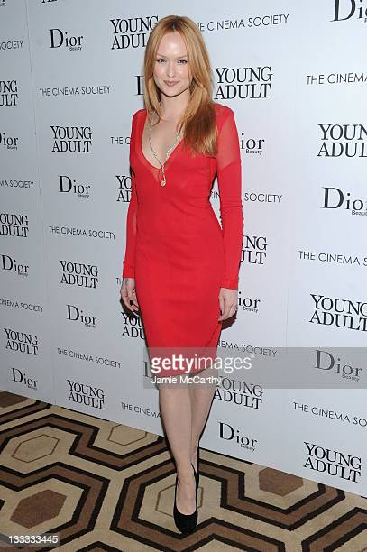 Actress Kaylee DeFer attends the Cinema Society Dior Beauty screening of Young Adult at the Tribeca Grand Screening Room on November 18 2011 in New...