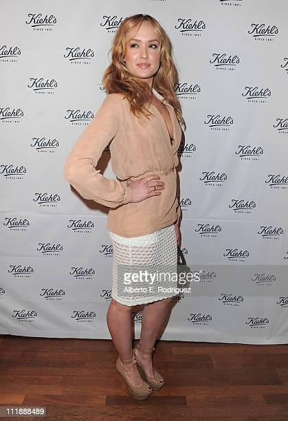 Actress Kaylee Defer attends the launch of Kiehl's Rare Earth Deep Pore Cleansing Masque on April 7 2011 in Santa Monica California