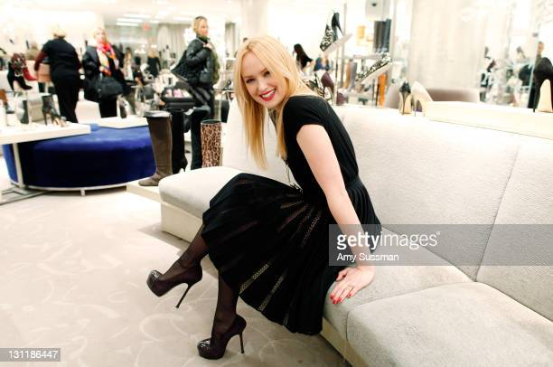 Actress Kaylee DeFer shops at 10022SHOE at Saks Fifth Avenue on November 1 2011 in New York City