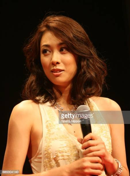 Actress Kazue Fukiishi attends press conference of TV Asahi drama 'Barairo no Seisen' on August 25 2011 in Tokyo Japan