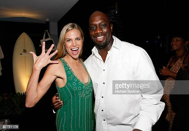 Actress ke Burns and actor Richard T Jones attend the Fox Fall EcoCasino party at The London West Hollywood hotel on September 8 2008 in West...