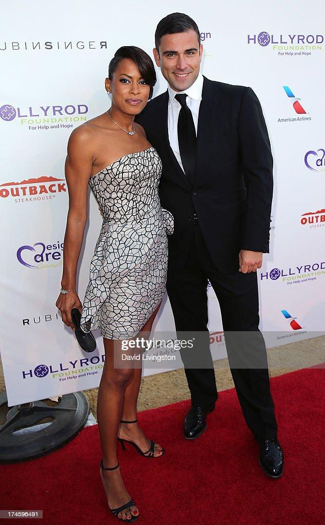 Actress Kearran Giovanni (L) and designer Rubin Singer attend the 15th Annual DesignCare on July 27, 2013 in Malibu, California.