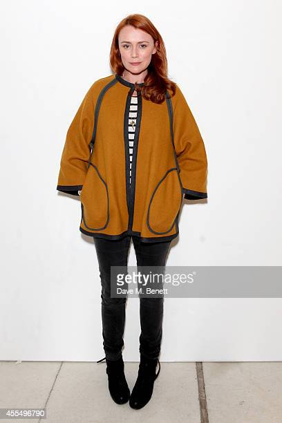 Actress Keeley Hawes attends the ISSA Spring/Summer 2015 Show during London Fashion Week at the Queen Elizabeth Hall on September 15, 2014 in London,...