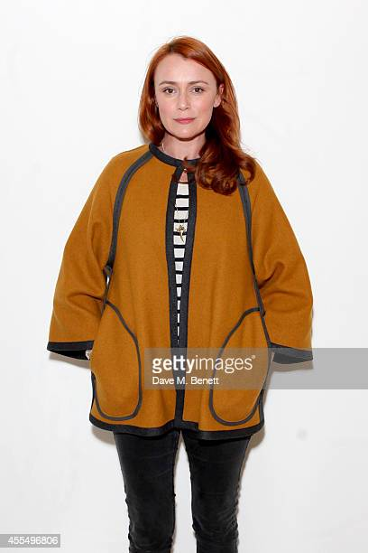 Actress Keeley Hawes attends the ISSA Spring/Summer 2015 Show during London Fashion Week at the Queen Elizabeth Hall on September 15 2014 in London...