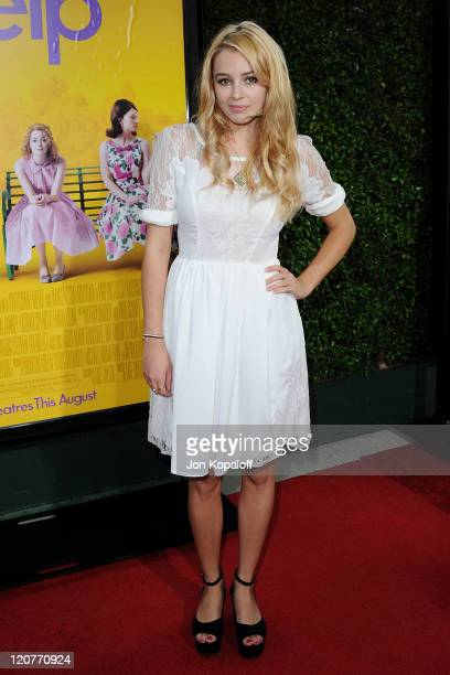 Actress Keeley Hazell arrives at the Los Angeles Premiere The Help at AMPAS Samuel Goldwyn Theater on August 9 2011 in Beverly Hills California
