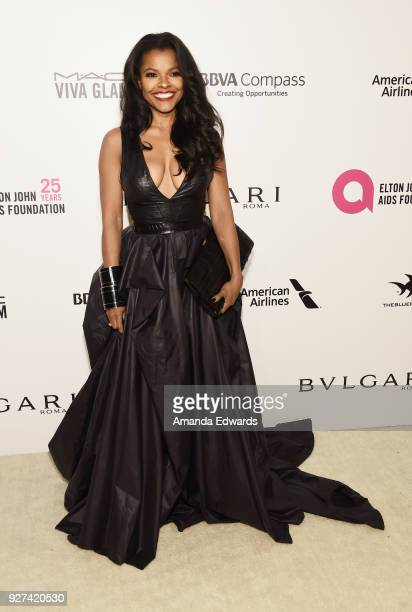 Actress Keesha Sharp arrives at the 26th Annual Elton John AIDS Foundation's Academy Awards Viewing Party on March 4 2018 in West Hollywood California