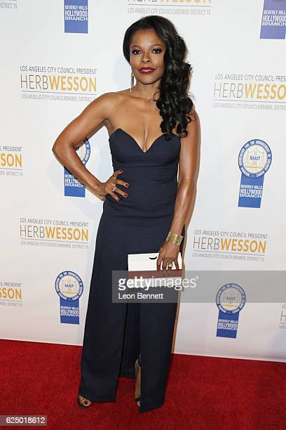Actress Keesha Sharp arrives at the 26th Annual NAACP Theatre Awards at Saban Theatre on November 21 2016 in Beverly Hills California