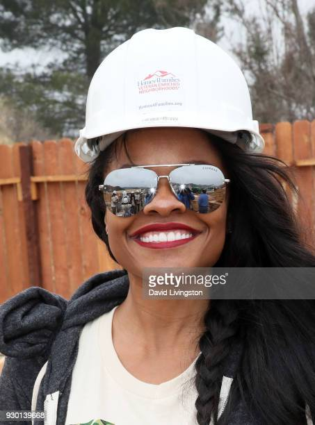 Actress Keesha Sharp attends the Celebs4Vets as they help Homes 4 Families build homes for veterans to enriched neighborhood event on March 10 2018...