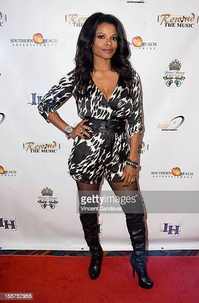 Actress Keesha Sharp attends the Independent Hollywood's '90's Nostalgia Film Music Tour' at LA LIVE on November 7 2012 in Los Angeles California