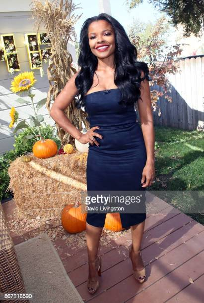 Actress Keesha Sharp visits Hallmark's Home Family at Universal Studios Hollywood on October 27 2017 in Universal City California