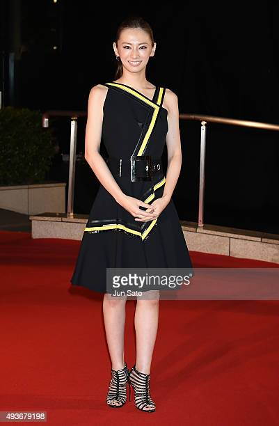 Actress Keiko Kitagawa attends the opening ceremony of the Tokyo International Film Festival 2015 at Roppongi Hills on October 22, 2015 in Tokyo,...