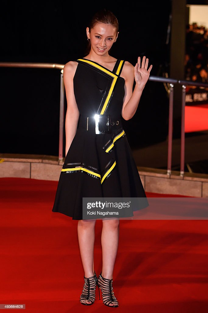 Actress Keiko Kitagawa attends the opening ceremony of the Tokyo International Film Festival 2015 at Roppongi Hills on October 22, 2015 in Tokyo, Japan.