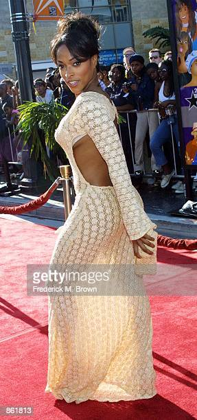 Actress Keillta Smith attends the 2nd Annual BET Awards on June 25 2002 at the Kodak Theater in Hollywood CA