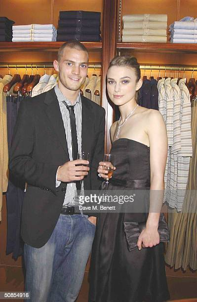 Actress Keira Knightely and boyfriend Jamie Dornan attend the relaunch of Asprey's flagship London store at its New Bond Street location on May 18...