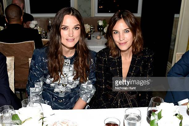 Actress Keira Knightley and Alexa Chung attend the CHANEL Fine Jewelry Dinner in honor of Keira Knightley at The Jewel Box Bergdorf Goodman on...