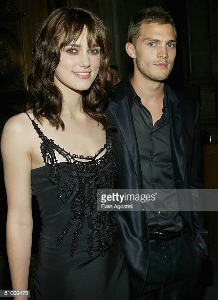 Actress Keira Knightley and boyfriend Jamie Dornan attend the King Arthur world premiere afterparty at The Cathedral Church of St John The Divine...
