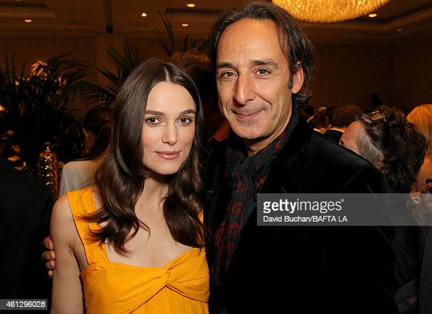 Actress Keira Knightley and composer Alexandre Desplat attend the BAFTA Los Angeles Tea Party at The Four Seasons Hotel Los Angeles At Beverly Hills...