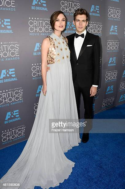 Actress Keira Knightley and composer James Righton attend the 20th annual Critics' Choice Movie Awards at the Hollywood Palladium on January 15 2015...