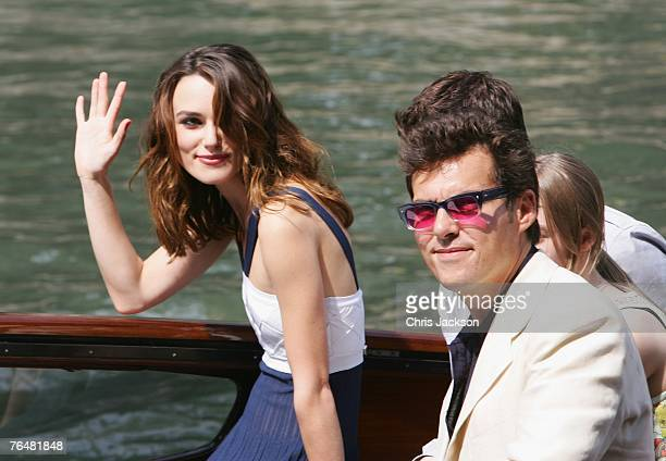Actress Keira Knightley and director Joe Wright arrive to attend the Atonement photocall during Day 1 of the 64th Annual Venice Film Festival on...
