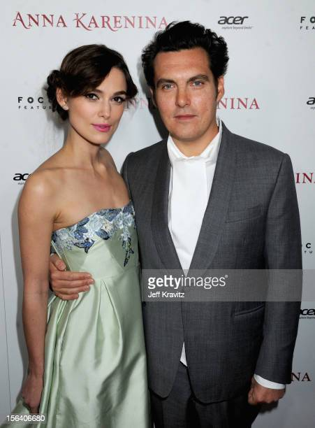 Actress Keira Knightley and director Joe Wright attend the Anna Karenina Los Angeles Premiere held at ArcLight Hollywood on November 14 2012 in...