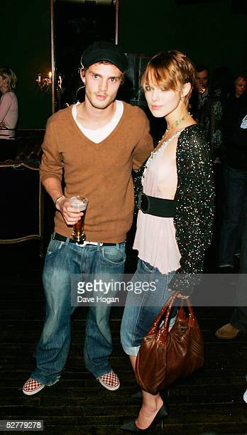 Actress Keira Knightley and her boyfriend Jamie Dorman attend Screening of 'The Jacket' at the Rex Cinema and bar on May 9 2005 in London England