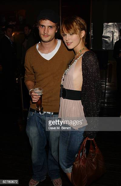 Actress Keira Knightley and her boyfriend Jamie Dorman attend the screening of The Jacket at the Rex Cinema and bar on May 9 2005 in London England