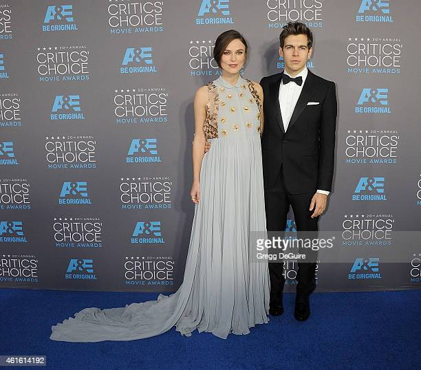 Actress Keira Knightley and husband James Righton arrive at the 20th Annual Critics' Choice Movie Awards at Hollywood Palladium on January 15 2015 in...