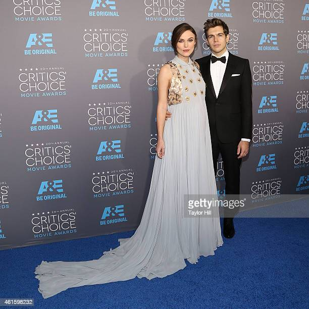 Actress Keira Knightley and husband James Righton attend The 20th Annual Critics' Choice Movie Awards at Hollywood Palladium on January 15 2015 in...