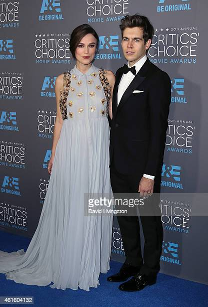 Actress Keira Knightley and husband musician James Righton attend the 20th Annual Critics' Choice Movie Awards at the Palladium on January 15 2015 in...