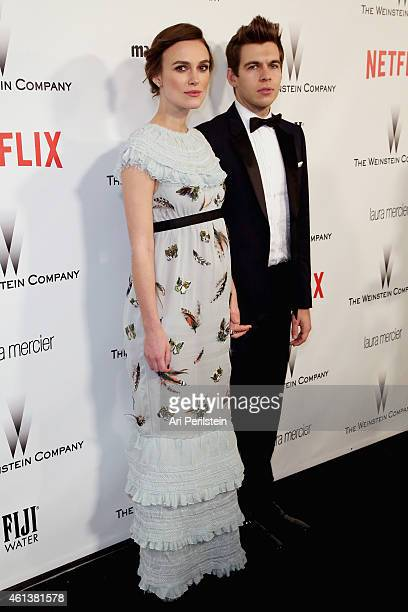 Actress Keira Knightley and musician James Righton attend The Weinstein Company Netflix's 2015 Golden Globes After Party presented by FIJI Water...