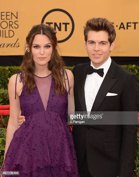 Actress Keira Knightley and musician James Righton attend the 21st Annual Screen Actors Guild Awards at The Shrine Auditorium on January 25 2015 in...