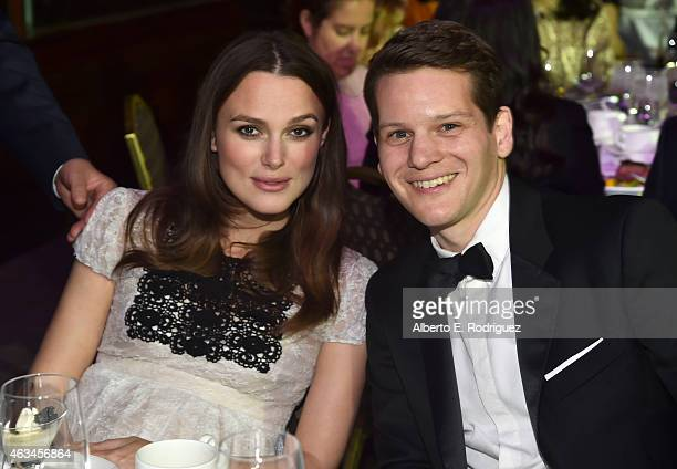 Actress Keira Knightley and screenwriter Graham Moore attend the 2015 Writers Guild Awards L.A. Ceremony at the Hyatt Regency Century Plaza on...