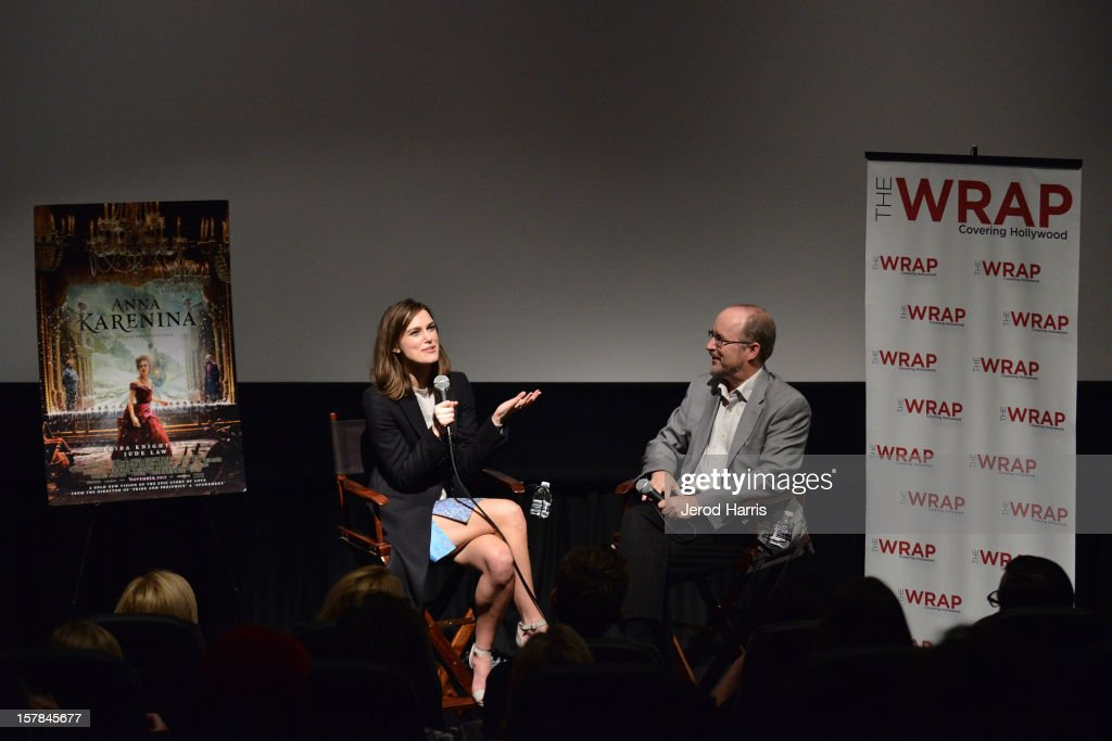 Actress Keira Knightley and TheWrap's Steve Pond participate in a Q&A sessiong following TheWrap's Awards Season Screening Series of 'Anna Karenina' on December 6, 2012 in Los Angeles, California.