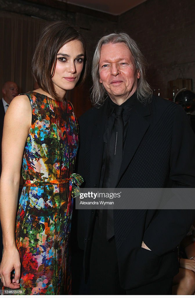 Actress Keira Knightley and Writer Christopher Hampton attend 'A Dangerous Method' party hosted by GREY GOOSE Vodka at Soho House Pop Up Club during the 2011 Toronto International Film Festival on September 10, 2011 in Toronto, Canada.