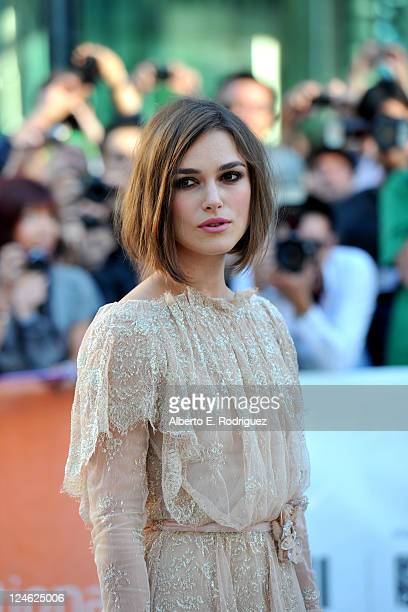 Actress Keira Knightley arrives at A Dangerous Method Premiere at Roy Thomson Hall during the 2011 Toronto International Film Festival on September...