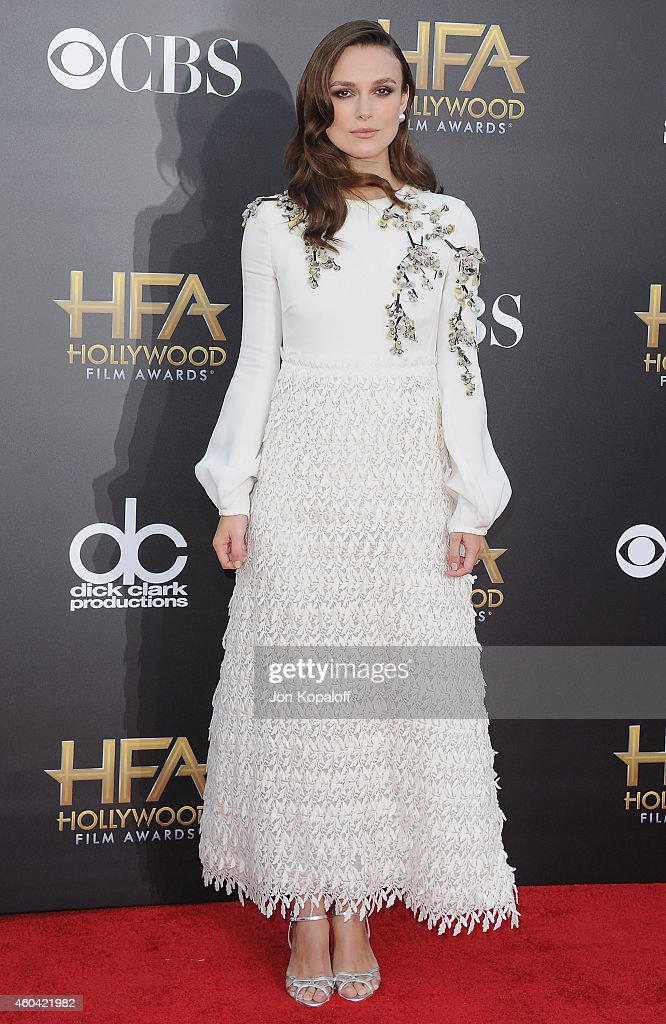 Actress Keira Knightley arrives at the 18th Annual Hollywood Film Awards at Hollywood Palladium on November 14, 2014 in Hollywood, California.