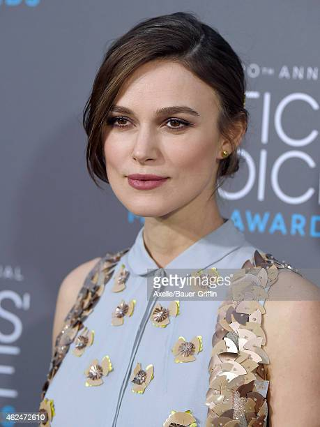 Actress Keira Knightley arrives at the 20th Annual Critics' Choice Movie Awards at Hollywood Palladium on January 15 2015 in Los Angeles California