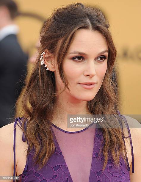 Actress Keira Knightley arrives at the 21st Annual Screen Actors Guild Awards at The Shrine Auditorium on January 25 2015 in Los Angeles California