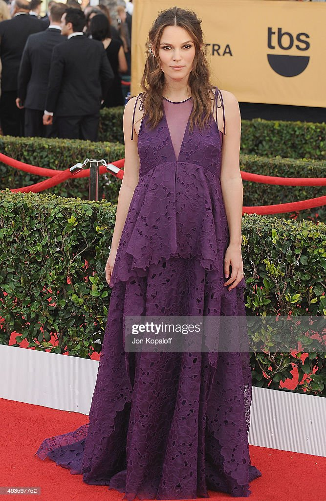 Actress Keira Knightley arrives at the 21st Annual Screen Actors Guild Awards at The Shrine Auditorium on January 25, 2015 in Los Angeles, California.