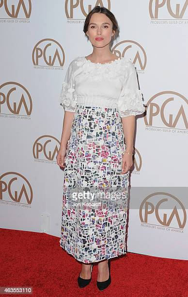 Actress Keira Knightley arrives at the 26th Annual PGA Awards at the Hyatt Regency Century Plaza on January 24 2015 in Los Angeles California