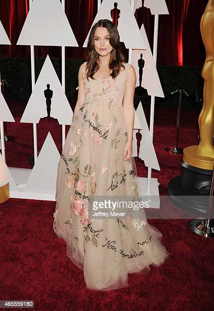 Actress Keira Knightley arrives at the 87th Annual Academy Awards at Hollywood & Highland Center on February 22, 2015 in Hollywood, California.