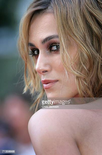 Actress Keira Knightley arrives at the European Premiere of 'Pirates Of The Caribbean Dead Man's Chest' at the Odeon Leicester Square on July 3 2006...