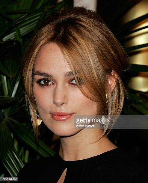 Actress Keira Knightley arrives at the Oscar Nominees Luncheon at the Beverly Hilton Hotel on February 13 2006 in Beverly Hills California